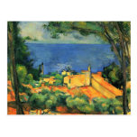 Paul Cezanne- L'Estaque con los tejados rojos Postales