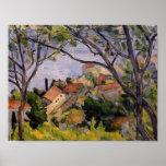 Paul Cezanne- L'Estaque. Visión a través de los ár Posters