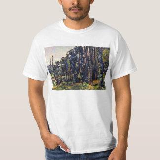 Paul Cezanne - los álamos Playera