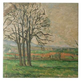 Paul Cezanne - los árboles desnudos en Jas de Azulejo Cuadrado Grande
