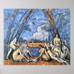 Paul Cezanne - los bañistas grandes Posters