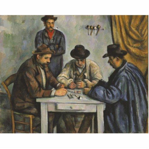 Paul Cézanne - los jugadores de tarjeta Escultura Fotográfica