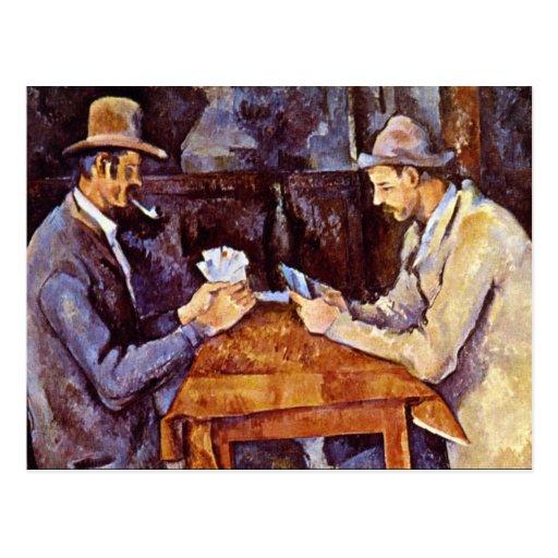 Paul Cezanne - los jugadores de tarjeta Postal