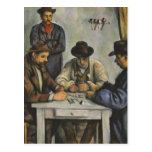 Paul Cézanne - los jugadores de tarjeta Postal