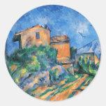 Paul Cezanne - Maison Maria Classic Round Sticker