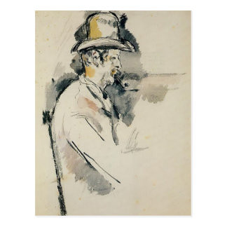 Paul Cezanne- Man with a Pipe Postcard