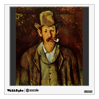 Paul Cezanne- Man with a Pipe Room Sticker