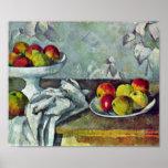 Paul Cezanne - manzanas y de fruta todavía del cue Impresiones