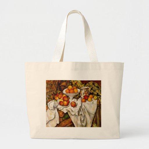 Paul Cézanne - manzanas y naranjas Bolsa Tela Grande