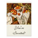 Paul Cézanne - manzanas y naranjas Invitación 12,7 X 17,8 Cm