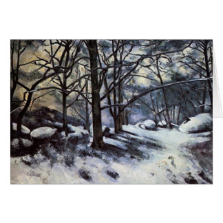 Paul Cezanne- Melting Snow. Fontainbleau Card