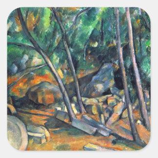 Paul Cezanne - Mill Stone Square Sticker