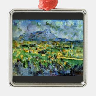 Paul Cezanne - Mont Sainte-Victoire Ornaments Para Arbol De Navidad