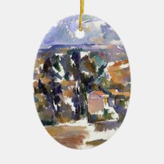 Paul Cezanne- Mont Sainte-Victoire from les Lauves Christmas Ornaments