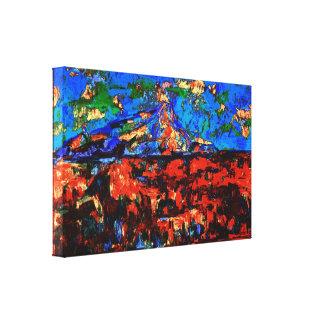Paul Cézanne - Mont Sainte Victoire (Modified) Canvas Print