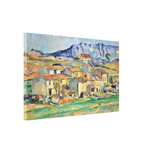 Paul Cezanne - Montaigne Sainte-Victoire Stretched Canvas Prints