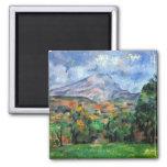 Paul Cezanne - Mount St Victoire Fridge Magnets
