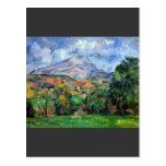 Paul Cezanne - Mount St Victoire Postcard