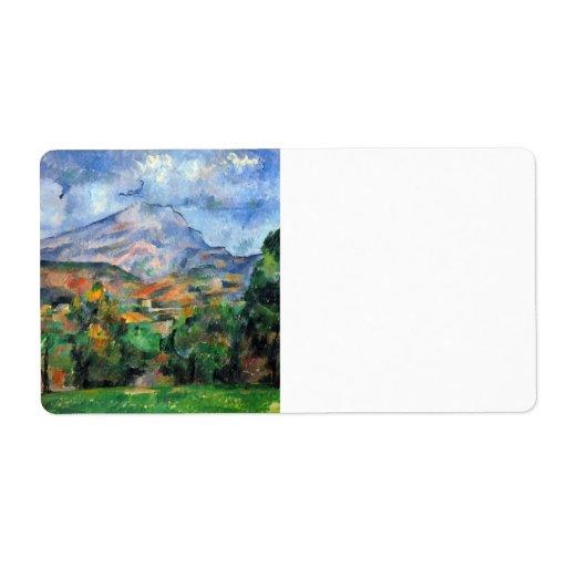 Paul Cezanne - Mount St Victoire Shipping Label