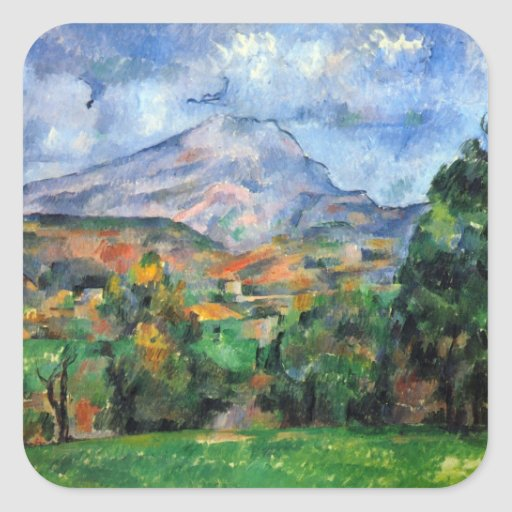 Paul Cezanne - Mount St Victoire Sticker