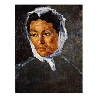 Paul Cezanne - mujer campesina Postales