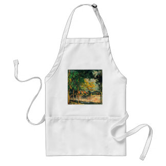 Paul Cezanne Nature Painting & Quote Adult Apron