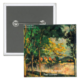Paul Cezanne Nature Painting & Quote Button