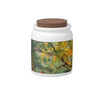 Paul Cezanne Nature Painting & Quote Candy Jars