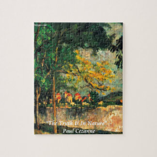 Paul Cezanne Nature Painting & Quote Jigsaw Puzzle
