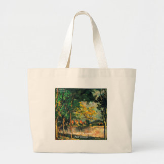 Paul Cezanne Nature Painting & Quote Large Tote Bag
