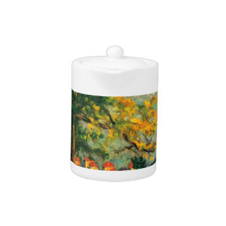 Paul Cezanne Nature Painting & Quote Teapot