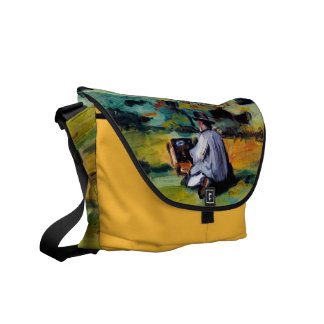 Paul Cezanne painter at work impressionist artist Courier Bag