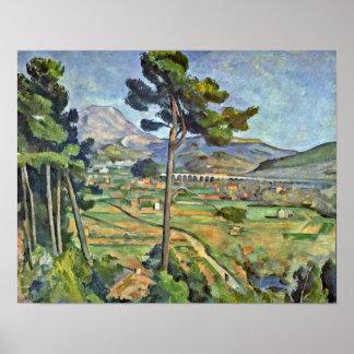 Paul Cezanne - paisaje con el viaducto Poster