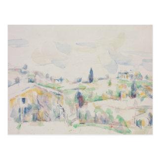 Paul Cezanne - paisaje en Provence Tarjeta Postal