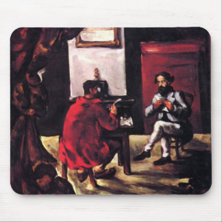 Paul Cezanne- Paul Alexis Reading at Zola's House Mousepads
