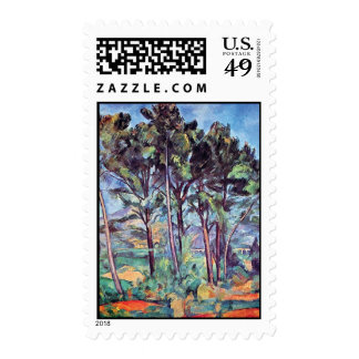 Paul Cezanne - Pines And Aqueduct Fine Art Postage