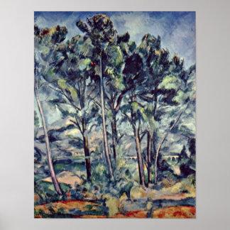 Paul Cezanne - pinos y acueducto (el viaducto) Impresiones