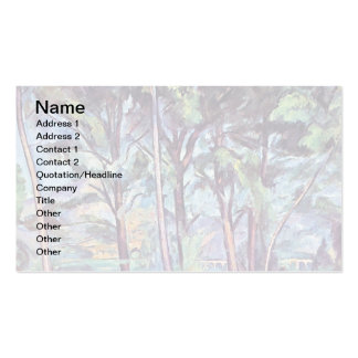 Paul Cezanne - pinos y bella arte del acueducto Tarjetas De Visita