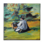 Paul Cezanne - pintor en el trabajo Tejas Cerámicas