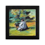 Paul Cezanne - pintor en el trabajo Cajas De Regalo