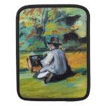 Paul Cezanne - pintor en el trabajo Fundas Para iPads
