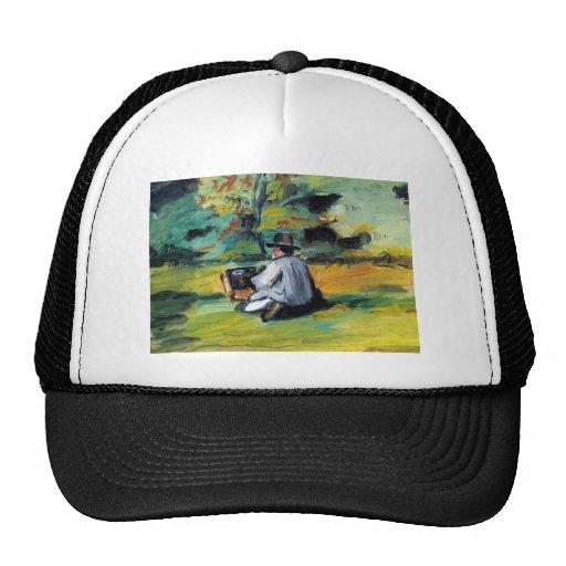 Paul Cezanne - pintor en el trabajo Gorro De Camionero