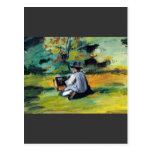 Paul Cezanne - pintor en el trabajo Tarjeta Postal