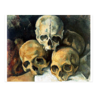 Paul Cézanne - pirámide de cráneos Tarjeta Postal