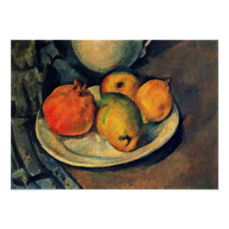 Paul Cezanne - Pomegranate and Pears Still Life Poster