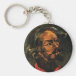 Paul Cezanne- Portrait of Achille Emperaire Basic Round Button Keychain