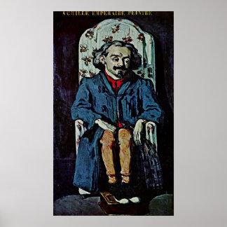 Paul Cezanne - Portrait of Achille Emperaire Poster