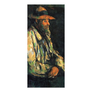 Paul Cezanne- Portrait of Vallier Rack Card Design