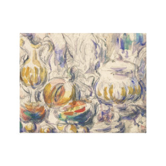 Paul Cezanne - Pot and Soup Tureen Canvas Print