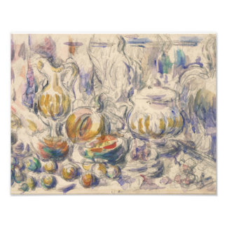 Paul Cezanne - Pot and Soup Tureen Photo Print